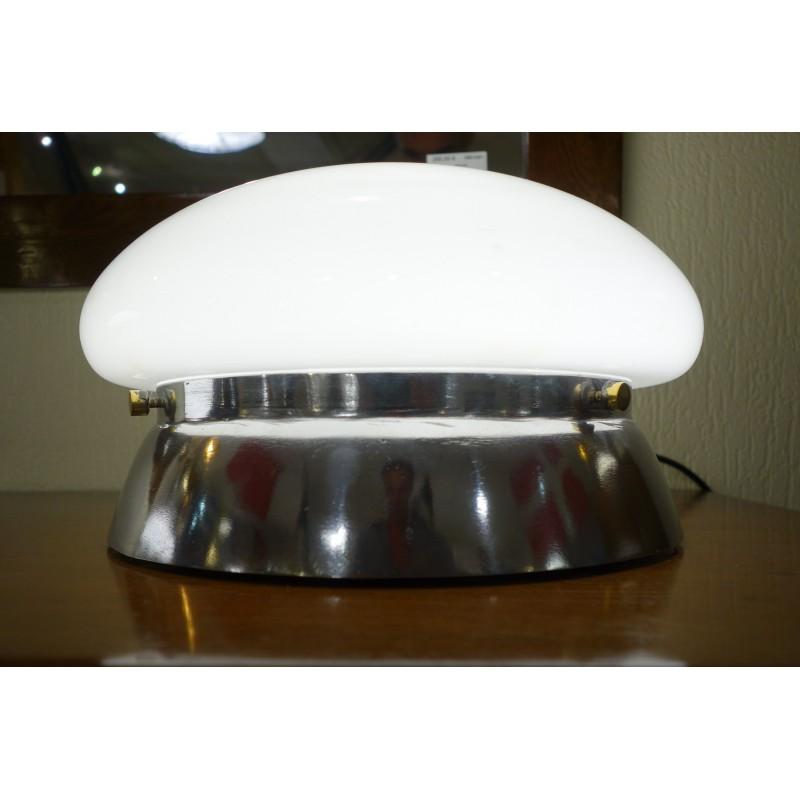 LAMPE A POSER EN VERRE ET AUMINIUM