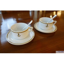 LOT DE DEUX TASSES MARINE NATIONALE