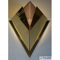 APPLIQUE TRIANGULAIRE EN LAITON